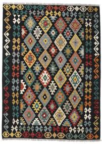 Kelim Afghan Old Style Matto 154X213 Itämainen Käsinkudottu Musta/Tummanharmaa (Villa, Afganistan)