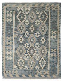 Kelim Afghan Old Style Matto 153X193 Itämainen Käsinkudottu Vaaleanharmaa/Vihreä (Villa, Afganistan)