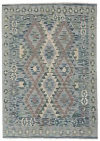 Kelim Afghan Old Style Matto 123X173 Itämainen Käsinkudottu Tummanharmaa/Vaaleanvihreä/Vaaleanharmaa (Villa, Afganistan)