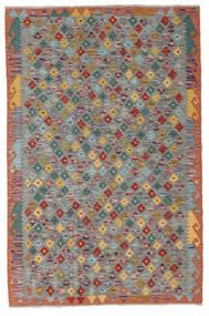 Kelim Afghan Old Style Matto 119X182 Itämainen Käsinkudottu Tummanharmaa/Tummanpunainen (Villa, Afganistan)