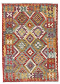 Kelim Afghan Old Style Matto 123X171 Itämainen Käsinkudottu Tummanpunainen/Vaaleanruskea (Villa, Afganistan)