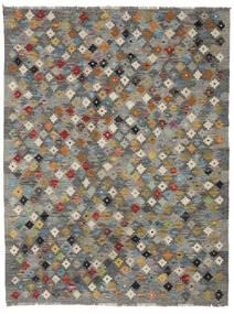 Kelim Afghan Old Style Matto 137X179 Itämainen Käsinkudottu Tummanharmaa/Vaaleanruskea/Vaaleanharmaa (Villa, Afganistan)