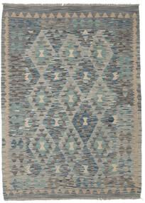 Kelim Afghan Old Style Matto 130X179 Itämainen Käsinkudottu Tummanvihreä/Vaaleanharmaa/Tummanharmaa (Villa, Afganistan)