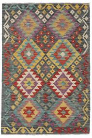 Kelim Afghan Old Style Matto 122X178 Itämainen Käsinkudottu Tummanharmaa/Tummanpunainen (Villa, Afganistan)