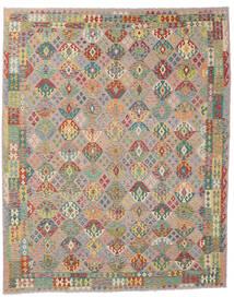 Kelim Afghan Old Style Matto 310X386 Itämainen Käsinkudottu Vaaleanharmaa/Tummanbeige Isot (Villa, Afganistan)