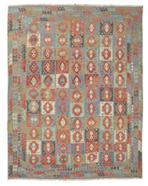 Kelim Afghan Old Style Matto 308X390 Itämainen Käsinkudottu Vaaleanharmaa/Tummanharmaa Isot (Villa, Afganistan)