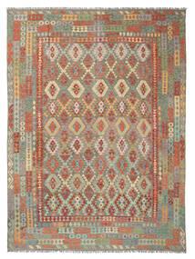 Kelim Afghan Old Style Matto 301X398 Itämainen Käsinkudottu Vaaleanharmaa/Vaaleanruskea Isot (Villa, Afganistan)