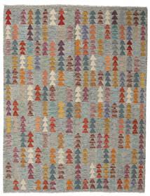 Kelim Afghan Old Style Matto 153X196 Itämainen Käsinkudottu Vaaleanharmaa/Tummanharmaa (Villa, Afganistan)