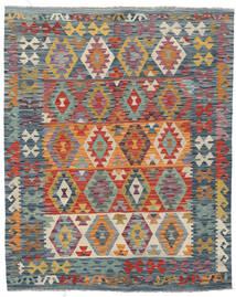 Kelim Afghan Old Style Matto 155X196 Itämainen Käsinkudottu Tummanharmaa/Tummanpunainen (Villa, Afganistan)