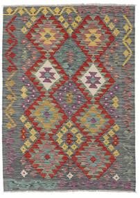 Kelim Afghan Old Style Matto 126X176 Itämainen Käsinkudottu Vaaleanharmaa/Tummanharmaa (Villa, Afganistan)