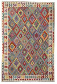 Kelim Afghan Old Style Matto 169X252 Itämainen Käsinkudottu Ruskea/Tummanharmaa (Villa, Afganistan)