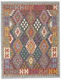 Kelim Afghan Old Style Matto 152X196 Itämainen Käsinkudottu Vaaleanharmaa/Vaaleanruskea (Villa, Afganistan)