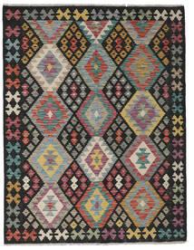 Kelim Afghan Old Style Matto 153X200 Itämainen Käsinkudottu Musta/Vaaleanharmaa/Vaaleanruskea (Villa, Afganistan)
