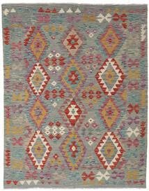 Kelim Afghan Old Style Matto 152X195 Itämainen Käsinkudottu Tummanharmaa/Vaaleanruskea (Villa, Afganistan)