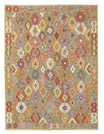 Kelim Afghan Old Style Matto 178X232 Itämainen Käsinkudottu Vaaleanharmaa/Tummanbeige (Villa, Afganistan)