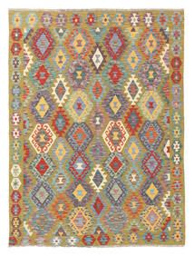 Kelim Afghan Old Style Matto 166X222 Itämainen Käsinkudottu Vaaleanharmaa/Oliivinvihreä (Villa, Afganistan)