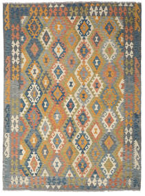 Kelim Afghan Old Style Matto 178X241 Itämainen Käsinkudottu Vaaleanruskea/Oliivinvihreä (Villa, Afganistan)