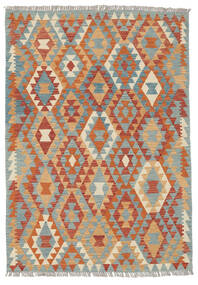 Kelim Afghan Old Style Matto 124X175 Itämainen Käsinkudottu Tummanpunainen/Tummanbeige (Villa, Afganistan)