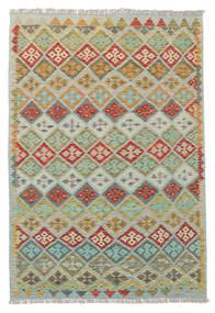 Kelim Afghan Old Style Matto 133X185 Itämainen Käsinkudottu Vaaleanvihreä/Vaaleanharmaa (Villa, Afganistan)