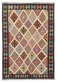Kelim Afghan Old Style Matto 124X180 Itämainen Käsinkudottu Tummanharmaa/Vaaleanruskea (Villa, Afganistan)