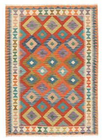Kelim Afghan Old Style Matto 122X171 Itämainen Käsinkudottu Beige/Punainen (Villa, Afganistan)