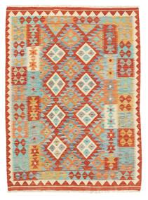 Kelim Afghan Old Style Matto 125X171 Itämainen Käsinkudottu Punainen/Vaaleanharmaa (Villa, Afganistan)