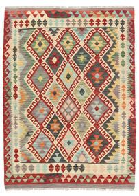 Kelim Afghan Old Style Matto 125X168 Itämainen Käsinkudottu Ruoste/Beige (Villa, Afganistan)