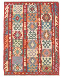 Kelim Afghan Old Style Matto 127X169 Itämainen Käsinkudottu Ruoste/Vaaleanharmaa (Villa, Afganistan)