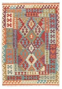 Kelim Afghan Old Style Matto 128X181 Itämainen Käsinkudottu Tummanpunainen/Punainen (Villa, Afganistan)