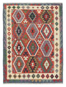 Kelim Afghan Old Style Matto 131X177 Itämainen Käsinkudottu Tummanharmaa/Beige (Villa, Afganistan)