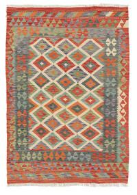Kelim Afghan Old Style Matto 118X173 Itämainen Käsinkudottu Punainen/Tummanharmaa (Villa, Afganistan)