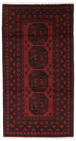 Afghan Matto 102X191 Itämainen Käsinsolmittu Tummanruskea/Tummanpunainen (Villa, Afganistan)