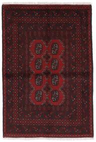 Afghan Matto 97X141 Itämainen Käsinsolmittu Tummanruskea/Tummanpunainen (Villa, Afganistan)