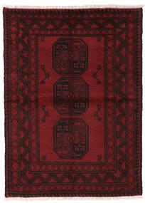 Afghan Matto 100X139 Itämainen Käsinsolmittu Tummanpunainen/Tummanruskea (Villa, Afganistan)