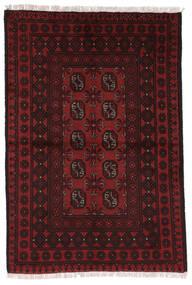 Afghan Matto 97X144 Itämainen Käsinsolmittu Tummanpunainen (Villa, Afganistan)