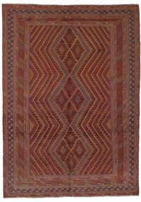 Kelim Golbarjasta Matto 196X290 Itämainen Käsinkudottu Tummanruskea/Musta (Villa, Afganistan)