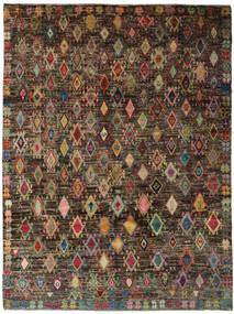 Moroccan Berber - Afghanistan Matto 212X281 Moderni Käsinsolmittu Tummanruskea/Tummanpunainen (Villa, Afganistan)