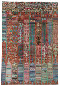 Moroccan Berber - Afghanistan Matto 209X296 Moderni Käsinsolmittu Vaaleanharmaa/Tummanruskea (Villa, Afganistan)