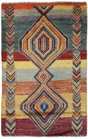 Moroccan Berber - Afghanistan Matto 76X119 Moderni Käsinsolmittu Tummanharmaa/Tummanpunainen (Villa, Afganistan)