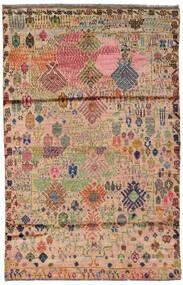 Moroccan Berber - Afghanistan Matto 115X177 Moderni Käsinsolmittu Vaaleanruskea/Tummanpunainen (Villa, Afganistan)