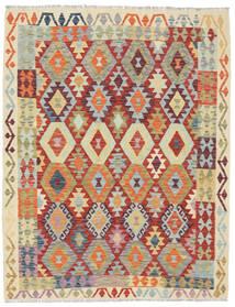 Kelim Afghan Old Style Matto 154X197 Itämainen Käsinkudottu Tummanbeige/Beige (Villa, Afganistan)