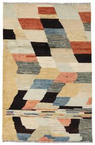 Moroccan Berber - Afghanistan Matto 117X176 Moderni Käsinsolmittu Tummanbeige/Musta (Villa, Afganistan)