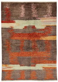 Moroccan Berber - Afghanistan Matto 138X195 Moderni Käsinsolmittu Ruskea/Tummanruskea (Villa, Afganistan)