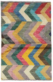 Moroccan Berber - Afghanistan Matto 91X141 Moderni Käsinsolmittu Vaaleanruskea/Tummanharmaa (Villa, Afganistan)