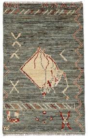 Moroccan Berber - Afghanistan Matto 75X121 Moderni Käsinsolmittu Tummanharmaa/Oliivinvihreä (Villa, Afganistan)
