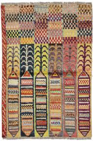 Moroccan Berber - Afghanistan Matto 88X132 Moderni Käsinsolmittu Tummanpunainen/Tummanharmaa (Villa, Afganistan)