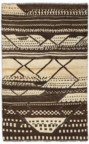 Moroccan Berber - Afghanistan Matto 86X136 Moderni Käsinsolmittu Tummanruskea/Keltainen (Villa, Afganistan)