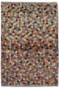Moroccan Berber - Afghanistan Matto 94X140 Moderni Käsinsolmittu Tummanpunainen/Vaaleanharmaa (Villa, Afganistan)