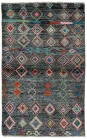 Moroccan Berber - Afghanistan Matto 91X146 Moderni Käsinsolmittu Musta/Tummanvihreä (Villa, Afganistan)