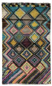 Moroccan Berber - Afghanistan Matto 79X132 Moderni Käsinsolmittu Musta/Tummanharmaa (Villa, Afganistan)